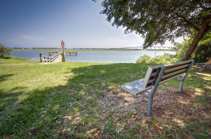 Cape Carteret provides many quiet views, just like this, along Bogue Sound