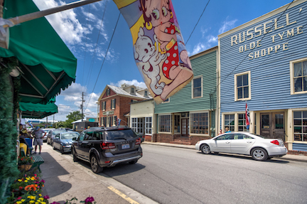 Old-Timey looking shops and amazing eateries line the Swansboro waterfront